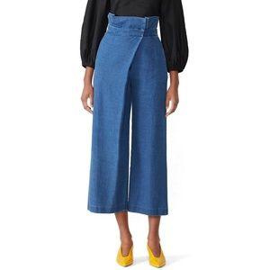 Mara Hoffman nikko wrap flare jeans ruffle E42
